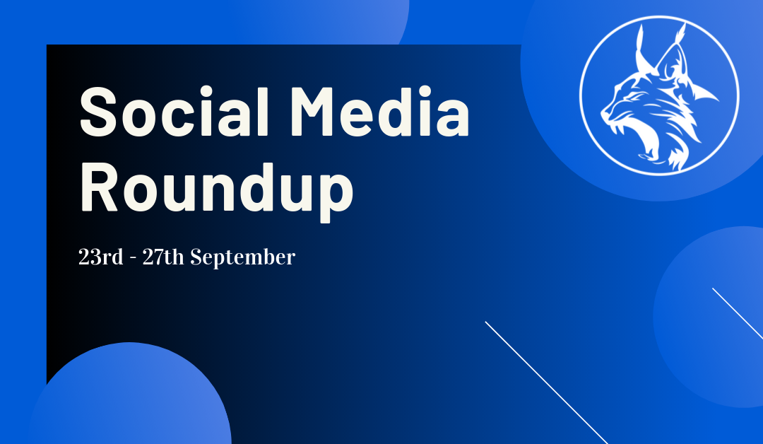 Social Media Roundup 23rd – 27th September