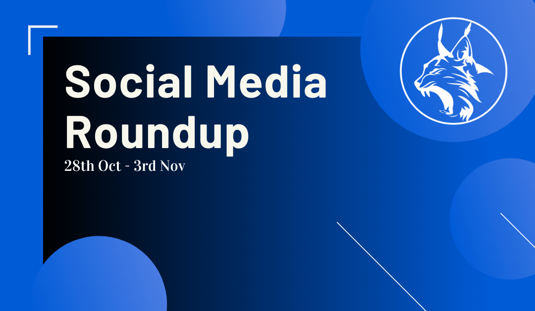 Social Media Roundup 28th Oct – 3rd Nov