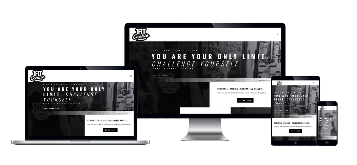 1FitCookie Website Portfolio - Lynx19 Web Design