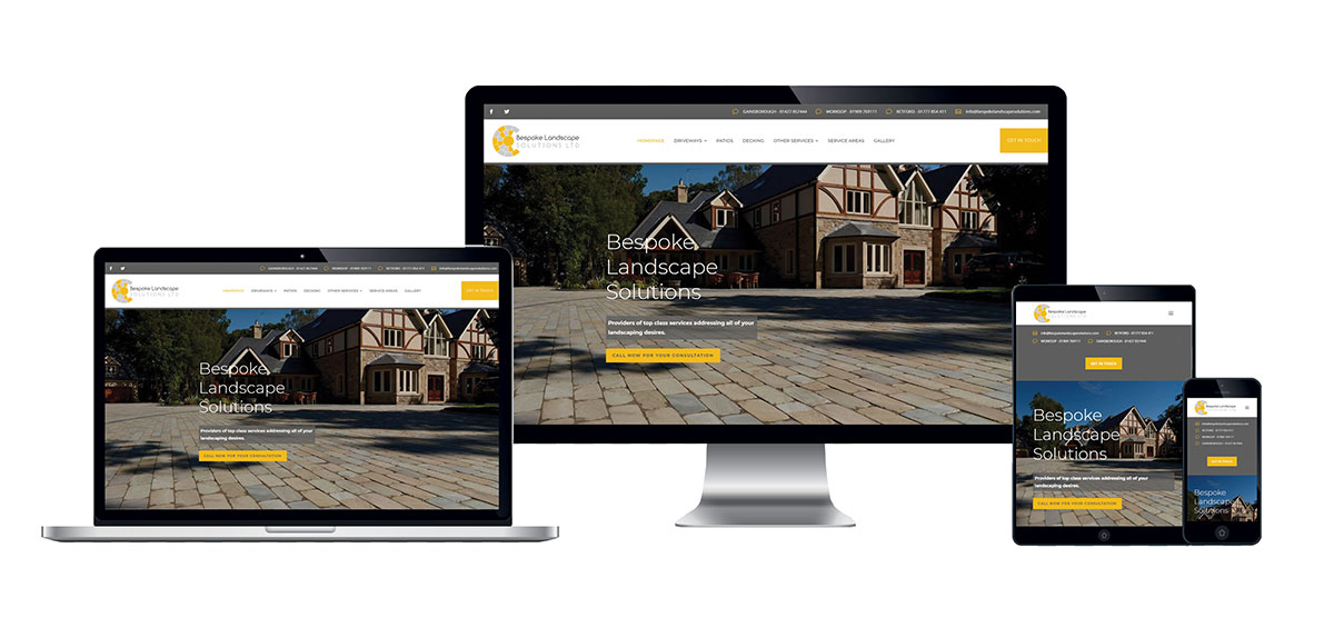 Bespoke Landscape Solutions Website Portfolio - Lynx19 Web Design